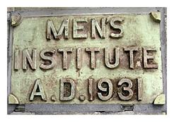 Plaque for the Men's Institute